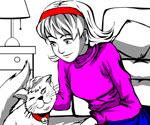 Kız ve Kedi Boyama