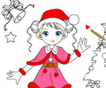 Noel Kızı Boyama