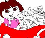 Dora ve Arkadaşları Boyama