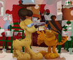 Garfield ve Odie Puzzle