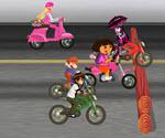 Çizgi Film Kahramanları Motor Yarışı
