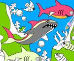 Okyanus ve Balıkları Boyama