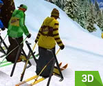 3D Dağ Kayak Yarışı
