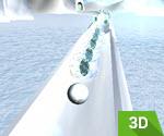 3D Kar Topu Yuvarlama
