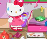 Hello Kitty Ev Temizliği ve Boyama