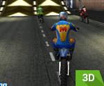 3D Şehirde Dağ Motoru Yarışı