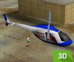 3D Polis Kurtarma Helikopteri