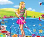 Barbie Havuz Partisi Temizliği