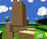 3D İlerlemeli Minecraft Oyunu