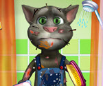 Talking Tom Banyo Yapıyor Oyunu