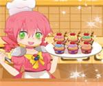 Aşçı Kız Küçük Kek Yapma