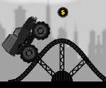 Siyah ATV Arabası