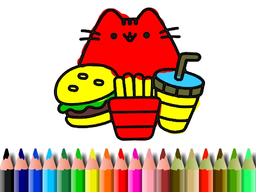 Tatlı Kedi Boyama
