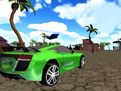 Plajda Araba Yarışı