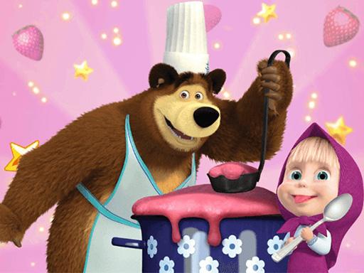 Maşa ve Koca Ayı Yemek Yapıyor