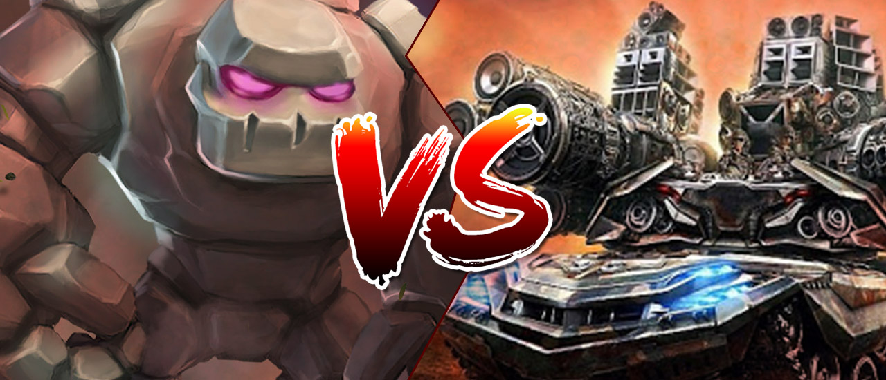 Tank vs Golem