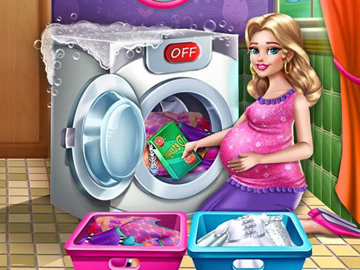 Anne Çamaşır Yıkıyor
