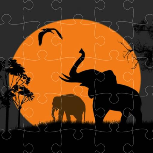 Fil Silüeti Yapbozları