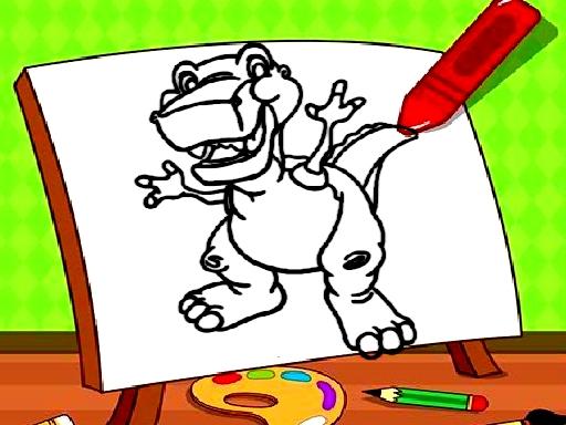 Sevimli Dinozor Boyama