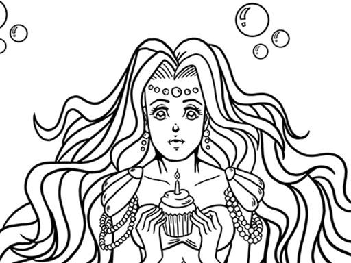 Deniz Kızı Boyama