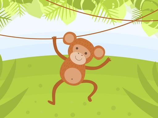 Eğlenceli Maymun Boyama