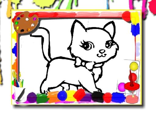 Tatlı Kedi Boyaması