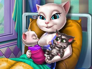 Kedinin İkiz Yavruları